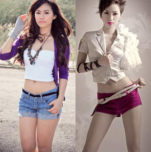 Ca sĩ Lương Bích Hữu (trái) và Trà My Idol