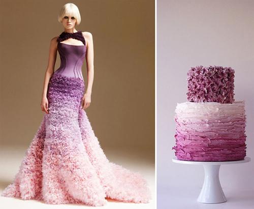 Nếu là đôi uyên ương yêu thích sự sáng tạo, hiện đại, một đám cưới tông màu đổ mang sắc tím sẽ là lựa chọn hoàn hảo.