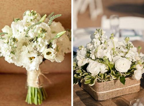 Hoa cưới trắng đẹp tinh khôi.