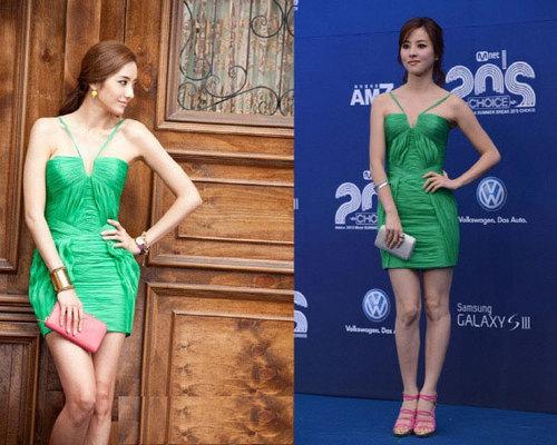 Han Chae Young và Han Hye Jin khoe thân hình gợi cảm với thiết kế nổi bật.