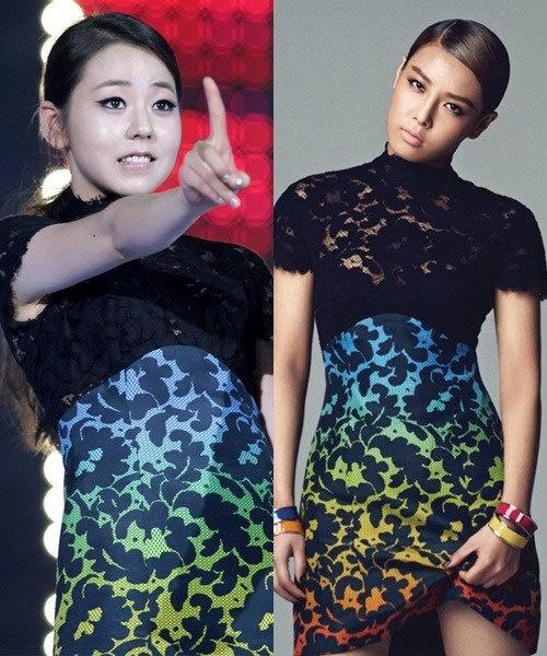 Sohee và Yubin mỗi người một phong cách.