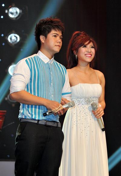Tối 9/9, Trang Pháp có dịp đứng chung sân khấu với nam ca sĩ từng gây chú ý tại Sao Mai điểm hẹn 2010 Đinh Mạnh Ninh.