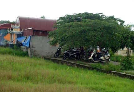 Ngôi mộ được cho là của công chúa Mai Hoa nằm giữa cánh đồng làng Ninh Hiệp.