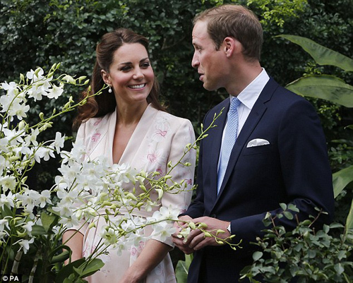 The Duke and Duchess of Cambridge also had orchids named after them