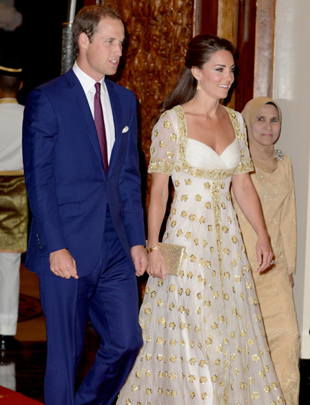 She and her husband, Prince William, were guests at the opulent Istana Negara Palace in Kuala Lumpur at the start of a four day visit to the country.
