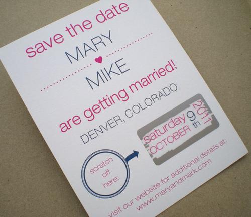Thiệp cưới bí mật như... vé số