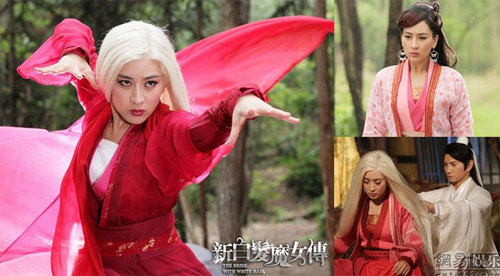 """Mã Tô trong phiên bản """"Tân Bạch phát ma nữ"""", phiên bản năm 2012, đóng cùng cô là tài tử Ngô Kỳ Long."""