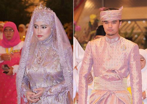 Cô dâu, Công chúa Hafizah, 32 tuổi là người con thứ 5 của Quốc vương Brunei Hassanal Bolkiah và Hoàng hậu Saleha. Chú rể Pengiran Haji Muhammad Ruzaini, 29 tuổi, là một viên chức làm việc tại văn phòng thủ tướng.