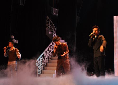 Lân Nhã còn kết hợp cùng Hà Okio và Hà Anh Tuấn trong vờ kịch