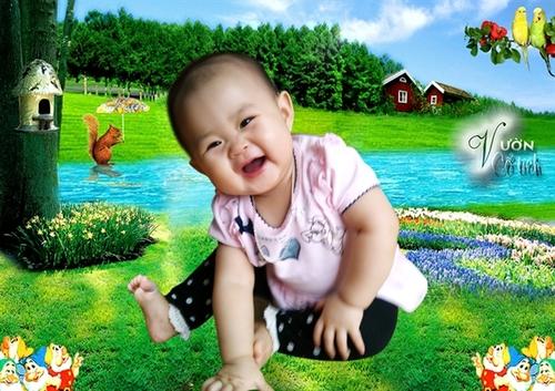 Những tấm ảnh này do chính mẹ Susu chụp cho bé khi Susu được 8 tháng tuổi.