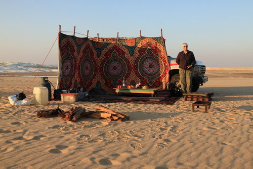 Cắm trại giữa sa mạc trắng White Desert, Ai Cập.