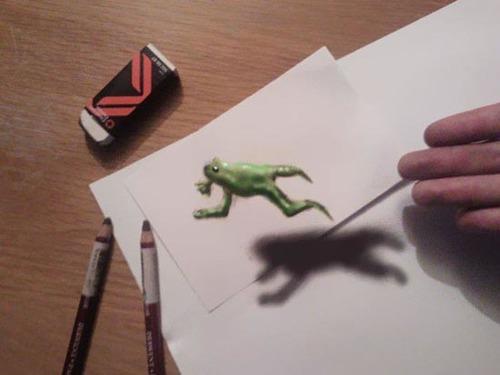 Những góc chụp kết hợp với ánh sáng giúp tạo nên sự thành công cho những bức tranh 3D của họa sĩ tài năng người Hà Lan.