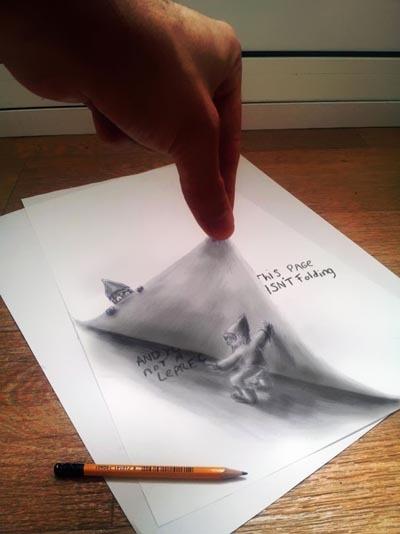 Khó mà tin được đây là một tác phẩm vẽ trên giấy bằng bút chì nếu như không được sờ vào chúng.
