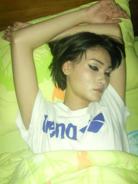 Thùy Trang trong loạt ảnh nhạy cảm bị tung lên mạng.