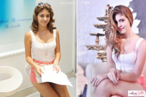 Người mẫu tuổi teen Andrea đã thành công với phương pháp tắm trắng da collagen