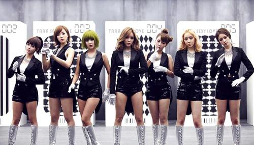 Các cô gái của nhóm T-ara