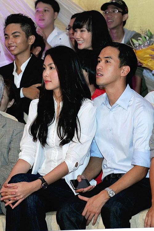Tăng Thanh Hà và Louis Nguyễn trong lần đi xem 'Bước nhảy hoàn vũ' hồi năm 2010.