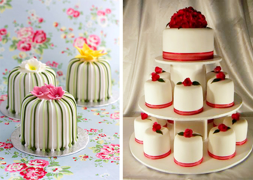 6. Bánh cưới mini: