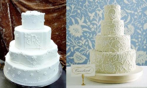 1. Bánh cưới trắng:
