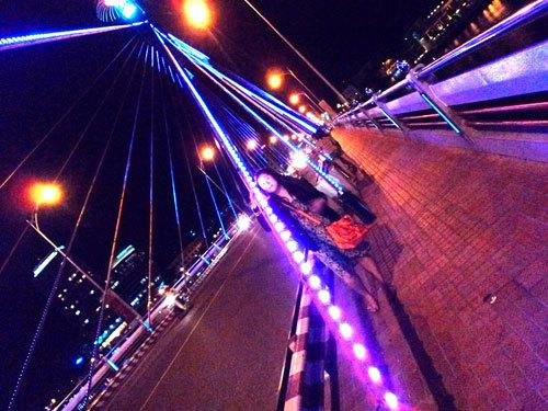 Cầu quay sông Hàn.