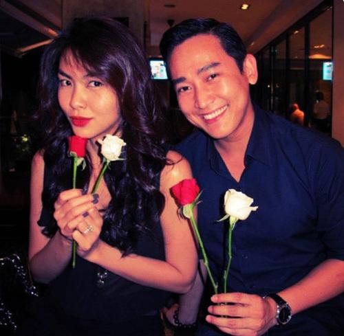 Hôm 3/11, anh cũng chia sẻ tấm ảnh chụp cùng Tăng Thanh Hà.