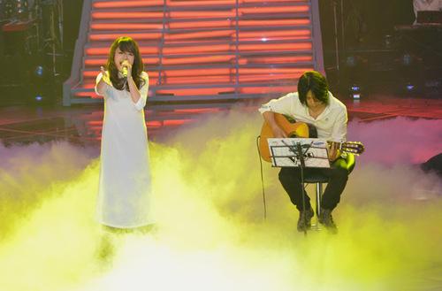 Thái Trinh có màn biểu diễn 'Bonjour Vietnam' rất thành công. Ảnh: Nguyễn Hữu Quý