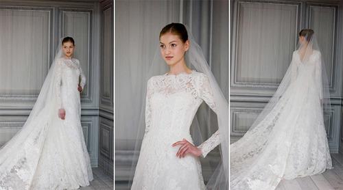 Cận cảnh chiếc váy cưới mà Tăng Thanh Hà chọn lựa. Ảnh: Brides.