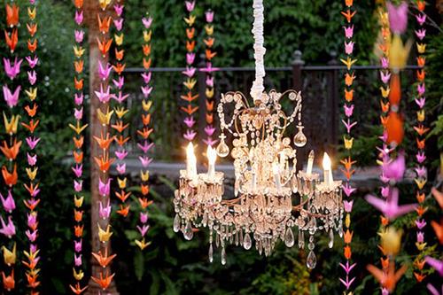 Phụ kiện treo tuyệt đẹp trang trí đám cưới