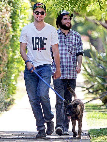 Robert Pattinson nhận nuôi chú chó Bear hồi tháng 2/2011.
