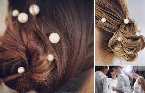Cô dâu hoàn toàn có thể tự thực hiện kiểu tóc này tại nhà.