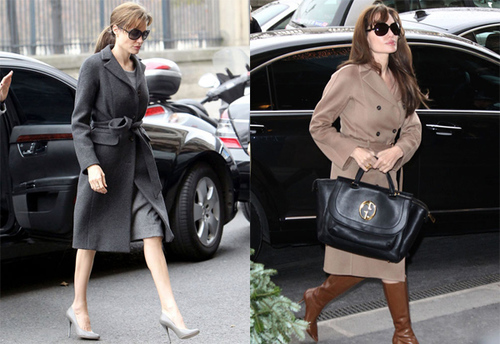 Bà mẹ của 6 nhóc tỳ - Angelina Jolie thanh lịch trên phố.