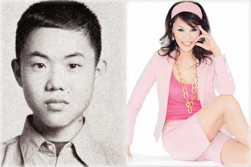 "Considered as the ""Legend"" of Eastern Media Group, Regine Wu, or Li Jing in Chinese, was born on October 25, 1962 in Taiwan. Born as a boy named Wu Zhongming, she underwent surgery and became a girl when she was 22 years old. Differing with other transsexual entertainers, Wu has always denied she had a sex change operation, claiming that she was born as a hermaphrodite with organs of both sexes and the ability to give birth. After working at the Shopping Channel (part of Eastern Media Group) Wu showed her sales talent and broke several sales records, including selling more than 700 laptops in 85 minutes, 250 motor homes within an hour, and 380 one-carat diamonds in 80 minutes. Since 2004, she has hosted TV programs such as the Diamond Club, Super Idol and Gossip Queen. In 2002, Wu married her boyfriend, a man 14 years younger than her."