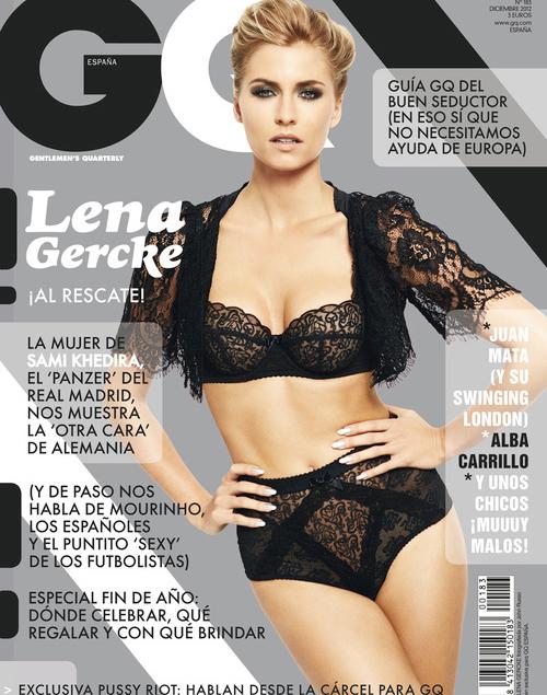 Lena Gercke trên trang bìa tạp chí GQ số tháng 12 tại Tây Ban Nha.