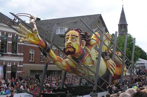 Hình ảnh khắc họa một câu chuyện dân gian của người Hà Lan.