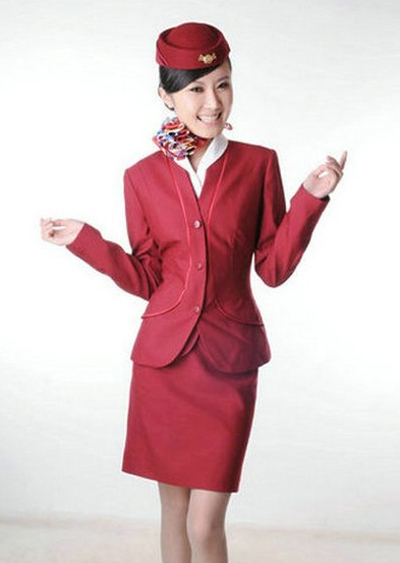 Gorgeous Zhao Yalu is a flight attendant with Shandong Airlines. She became famous because she joined the football babe competition during the 2010 World Cup. Her bright smile warms people like the sun in winter time. As one of the top 10 star flight attendants in China, she appeared on the 2011 calendar of Chinese stewardesses.