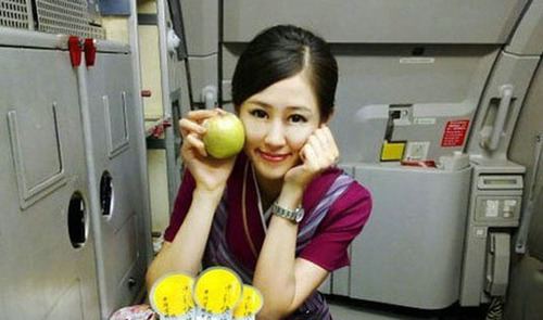 """Zhao Lingzi is a stewardess with Southern Airlines. She is famous for her amazing appearance in Episodes 41 and 42 of """"You Are the One,"""" broadcast on Jiangsu Television on July 4 and 10, 2010. She was chosen by Liu Xudong, a very successful and handsome young man to be his heartbeat girl. Finally, she was taken out by Liu Xudong. Due to her pretty face and delicate nature, she drew a lot of attention after appearing on the show."""