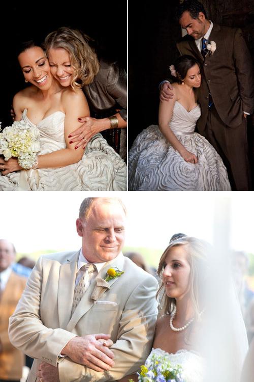 """11. Trong đám cưới, nhiều cô dâu chú rể chỉ quan tâm tới bạn bè và khách mời mà """"bỏ quên"""" cha mẹ. Bạn đừng quên gửi một cái ôm chặt, hay đơn giản là cái siết tay, ánh nhìn trìu mến tới các bậc sinh thành để cha mẹ biết rằng, bạn biết ơn hai người."""