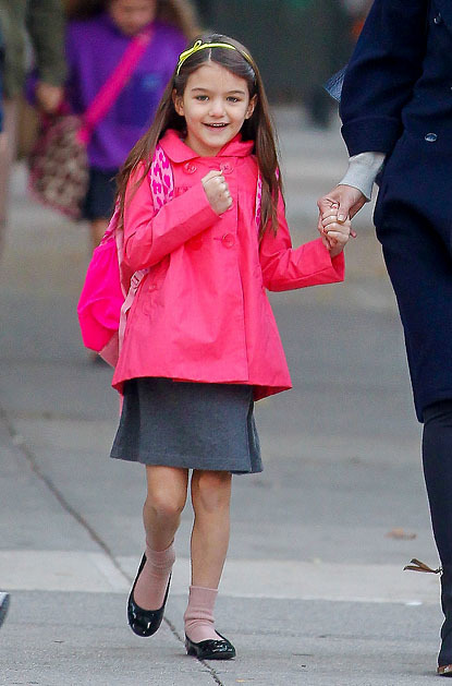With Tom Cruise and Katie Holmes splitting up in the early summer, Suri Cruise suddenly became the subject of a broken family. The spunky 6-year-old, who started a new school in New York City in the fall, spent most of her time with her mother and was introduced to a more normal lifestyle that included public transportation instead of limos and commercial flights instead of private jets.