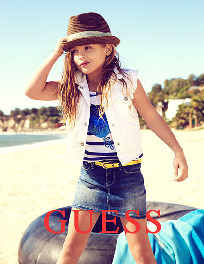 Anna Nicole Smith and Larry Birkheads beautiful little girl Dannielynn was featured in a Guess campaign in 2012, looking so much like her late mother.