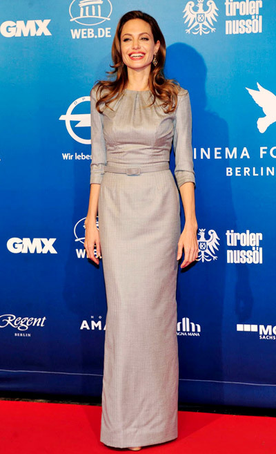 The Dress: A belted Ralph & Russo sheath. The Occasion: The 2012 Cinema For Peace Gala.