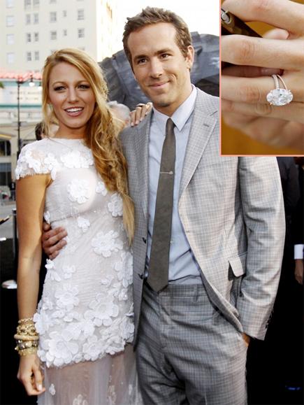 Ngày 9/9, nữ diễn viên Blake Lively bất ngờ kết hôn với chàng tài tử điển trai Ryan Reynolds, chồng cũ của cô đào Scarlett Johansson. Một tuần sau đám cưới kín tiếng, mọi người mới được chiêm ngưỡng chiếc nhẫn đính hôn hình oval màu hồng nhạt đẹp không tì vết của cô dâu.
