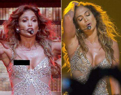 Trong khi biểu diễn ở Italy, Jennifer Lopez gặp tai nạn vì bộ bodysuit sexy.
