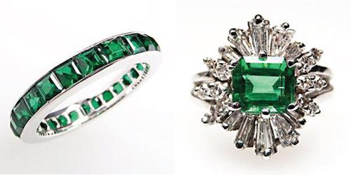 Từ năm 2012, các mẫu nhẫn đính hôn, nhẫn cưới đính đá quý đã được các cô dâu chú rể yêu thích, trong đó nhẫn đính đá ngọc bích sẽ là lựa chọn đáng yêu.