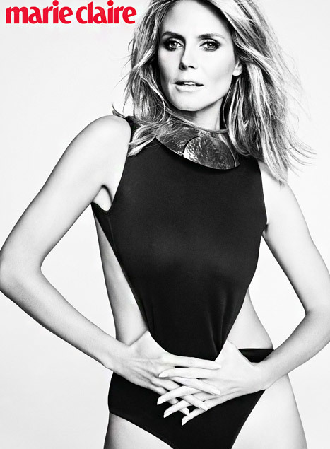 Heidi Klum trên tạp chí Marie Claire.