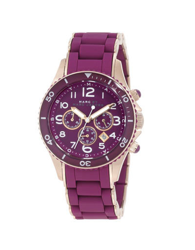 Mã SP 264717- Marc by Marc Jacobs Gold Ladies Rock Watch With Purple Silicone Band. Giá: 8,68 triệu đồng.