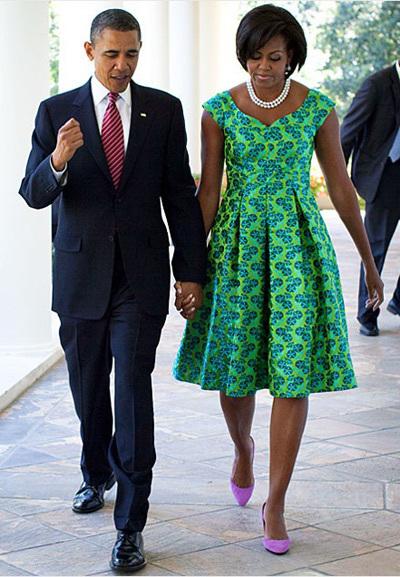 Vợ chồng Tổng thống Barack Obama.