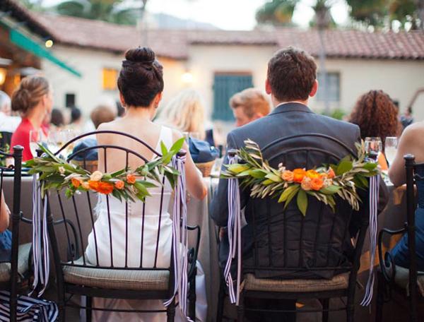 Vị trí của cô dâu chú rể nổi bật hơn hẳn trong đám cưới.