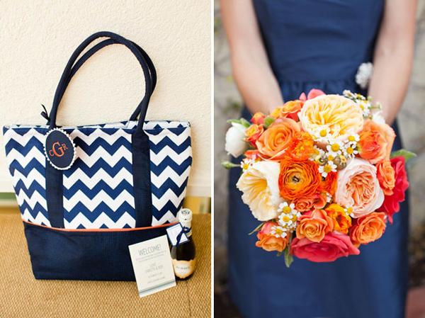 Hoa của phù dâu cũng ton sur ton với hoa cô dâu. Ngoài ra, phù dâu còn diện váy xanh lục đậm.