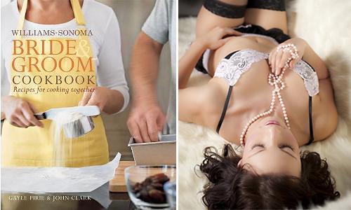 Cuốn sách nấu ăn hay bộ đồ nội y là món quà dành cho cả cô dâu và chú rể.