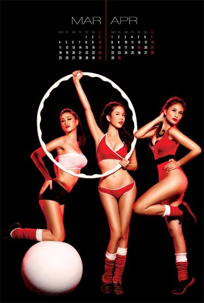Các cô gái xuất hiện trong những trang phục thể thao khỏe khoắn, mạnh mẽ nhưng vẫn toát lên vẻ gợi cảm hút hồn với số đo 3 vòng hoàn hảo.